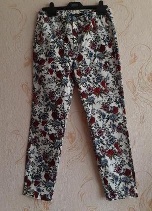 Шикарные коттоновые брюки джинсы от zara испания