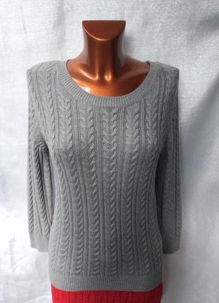 Серый в косы свитер от h&m