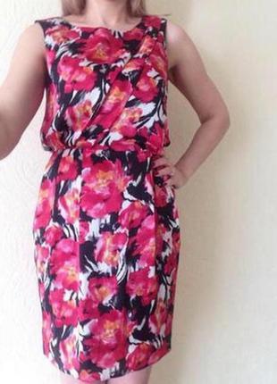 Платье в цветочный принт р.36/38 f&f