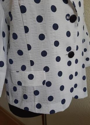 Шикарный пиджак в горох3 фото