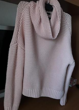 Zara свитер розовый персиковый