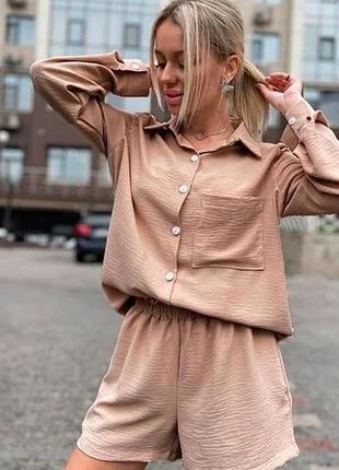 Прогулянковий костюм шорти+сорочка 7900