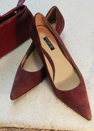 Акцентные туфли лодочки, натуральная замша, размер 39 (6)