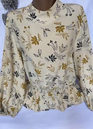 Шикарная нежная блуза m&s, 100% вискоза