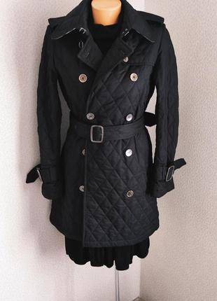 Burberry оригинал шикарное стёганое пальто, тренч, куртка, люкс бренд эксклюзив, винтаж