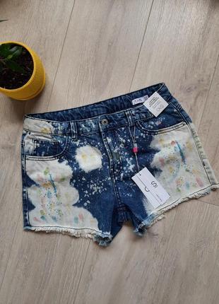Шорты джинсовые новые для девочки ovs 13 лет 14 лет летняя одежда детская