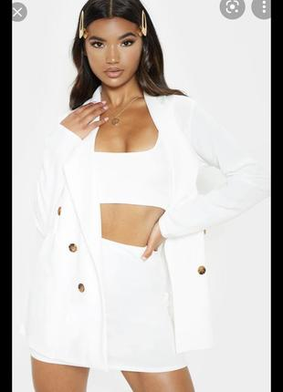 Пиджак жакет удлинённый двубортный