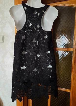 Платье туника пляжная кружевная м -ка2 фото
