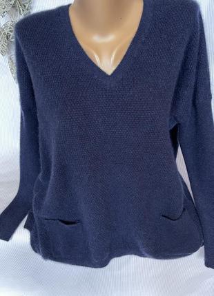 Шикарный синий свитер 100% кашемир ,