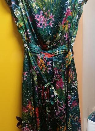 Платье orsay принт тропики