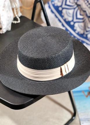 🔥актуально солнцезащитные шляпки канотье расцветки из рафии