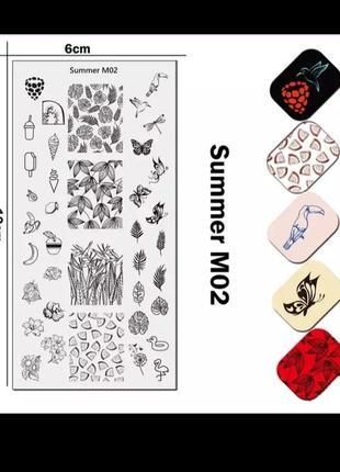 Пластина для стемпинга ногтей маникюра дизайна пластина для стемпінгу