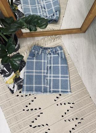 Класна джинсова юбка від boohoo🌿