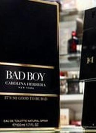 Туалетная вода carolina herrera bad boy ( качество оригинал)