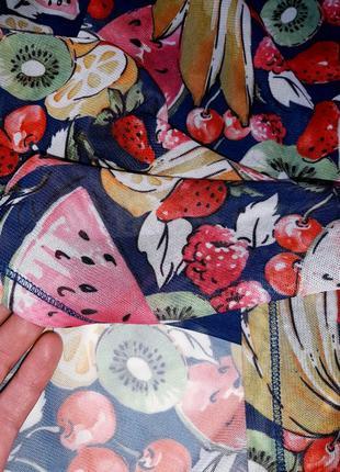 Брендовое платье футболка oui принт фрукты8 фото