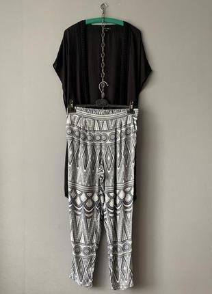 H&m лёгкие брюки + накидка new look.
