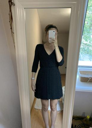 Чорна сукня в горошок / чёрное платье в горошек