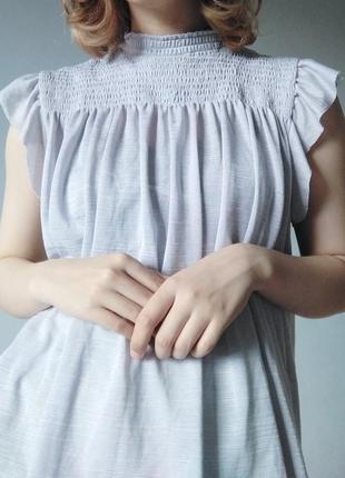 Лёгкая нежная блуза с рюшами 🦢