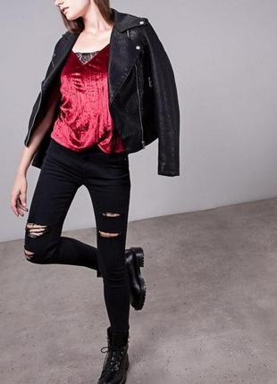Черные джинсы скинни на высокой талии zara stradivarius