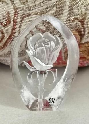 Сувенир стеклянный роза.