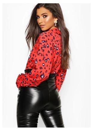 Рубашка блузка красная шелковая с животным принтом max mara roberto cavalli винтаж