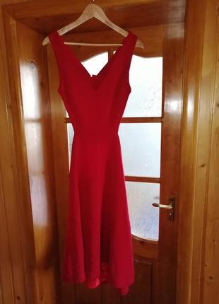 Платье миди нарядное вечернее плаття с открытой спиной