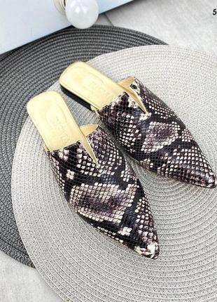 ❤ кожаные мюли туфли