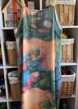 Комплект : платье в бельевом стиле и накидка