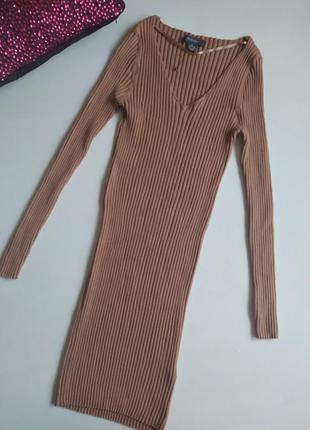Платье резинка / платье в рубчик/ платье лапша