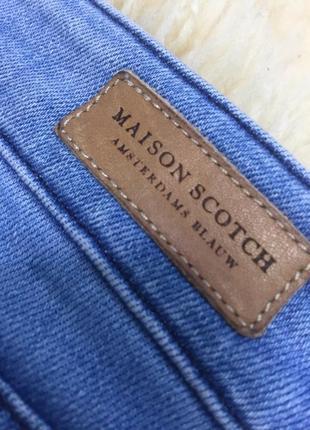 Джинси maison scotch / скіні голубий джинс / світлий джинс