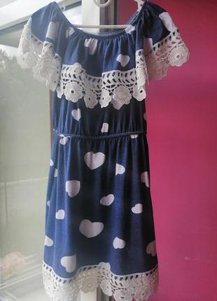 Летнее платье на 6,7 лет