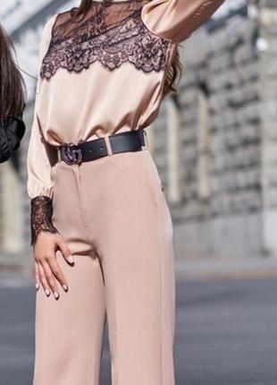 Бежевая блузка шёлк армани