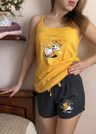 Пижамка двойка майка + шорты