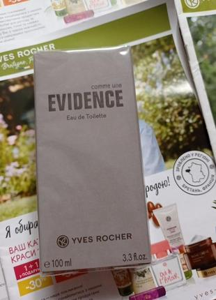 Туалетна вода evidence від  yves rocher