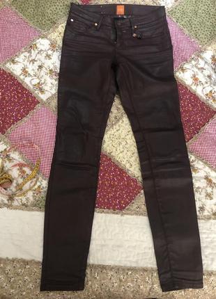 Брюки джинсы под кожу hugo boss оригинал