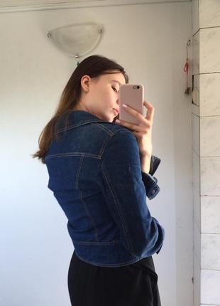 Укороченная джинсовка куртка джинсовая3 фото