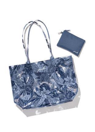 Стильная силиконовая сумка с косметичкой victoria's secret пляжная сумка шоппер оригинал сша 🇺🇸
