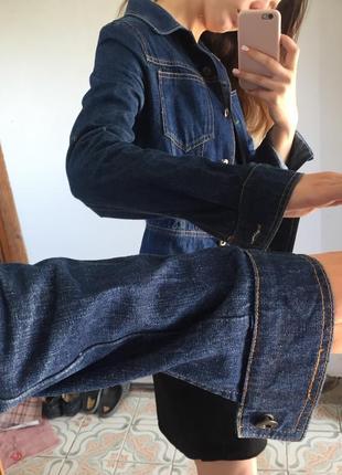 Укороченная джинсовка куртка джинсовая5 фото