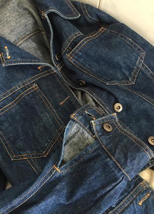 Укороченная джинсовка куртка джинсовая6 фото