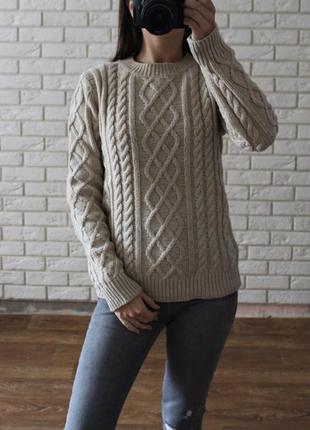 Трендовый теплый вязаный свитер atmosphere
