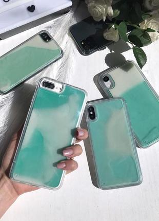 Неоновый чехол аквариум для iphone samsung xiaomi