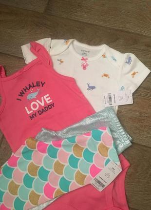 Набор одежды для девочки carter's 24мес (2боди,2капри)