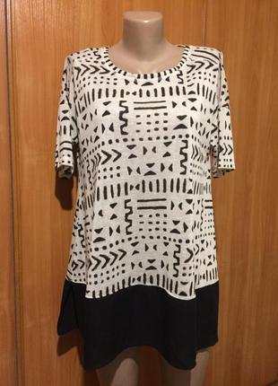 Комбинированная блуза,футболка!!