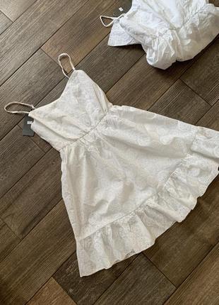 Платье-сарафан из прошвы. сукня котонова -прошва.