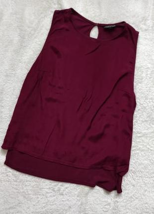 Бордовая, бургунди, марсала блузка, топ, натуральная