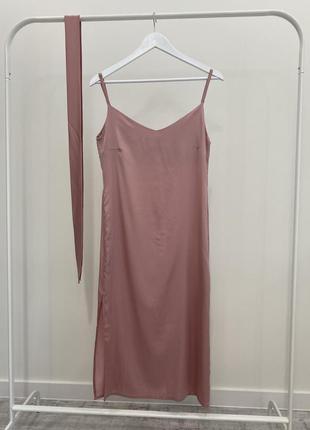 Шёлковое платье в бельевом стиле