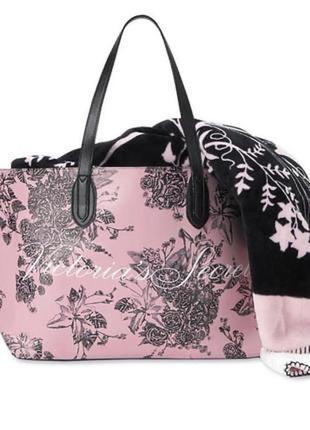 Супер цена 🔥розовая сумка шоппер сумочка victoria's secret оригинал сша 🇺🇸пляжная сумка