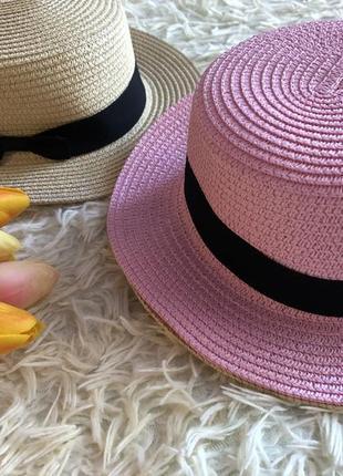 Красивая летняя шляпа канотье