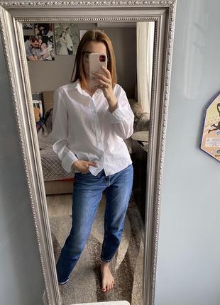 Белая рубашка бойфренд