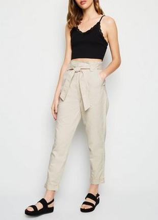 Брюки штаны на высокой посадке с поясом new look 1+1=3